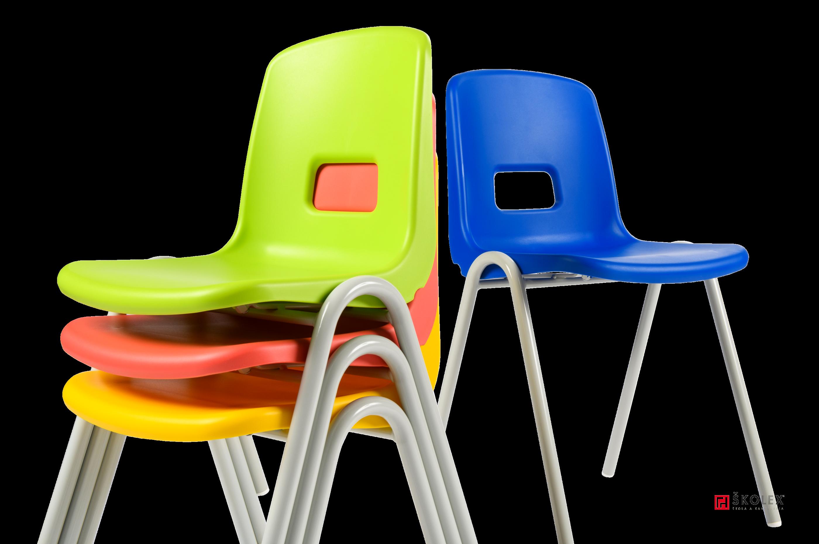 Stuhl TINA mit Kunststoffsessel / Skolex